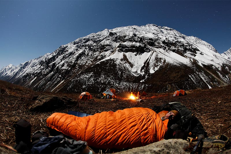 Sleeping out at Saipal Base Camp