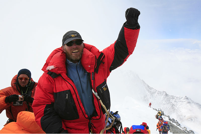 Jamie on the summit of everest 2008
