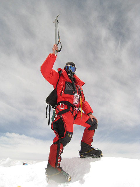 David Cole on the summit of Everest