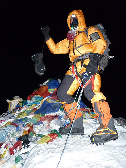 Barry Cohen, South Africa, Everest summit