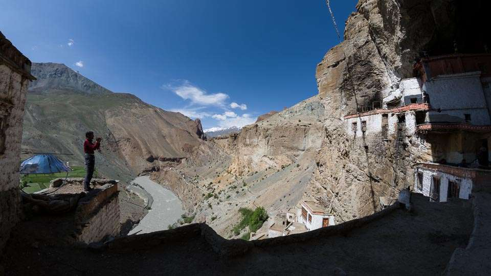 At Phuktal Gompa and Monastery