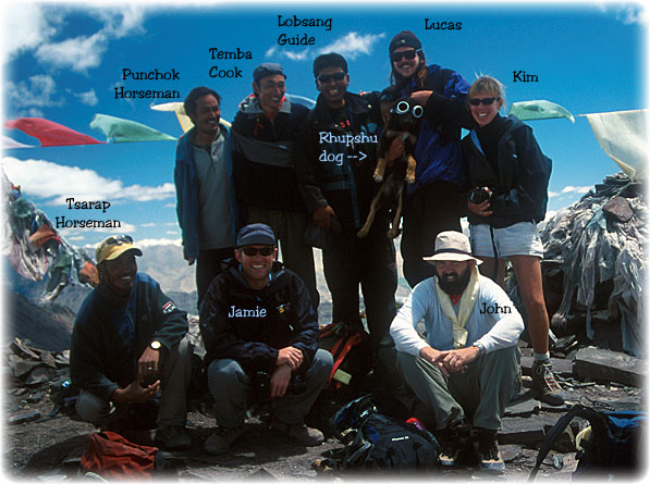 Our star crew and trekking team - this was one of the many so memorable treks. Joel took the picture